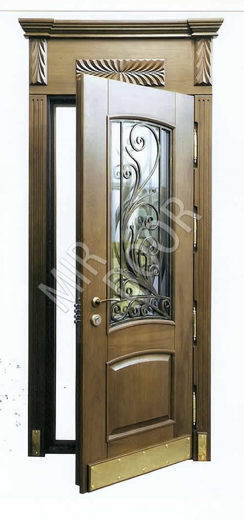 входные двери с вставкой стекло