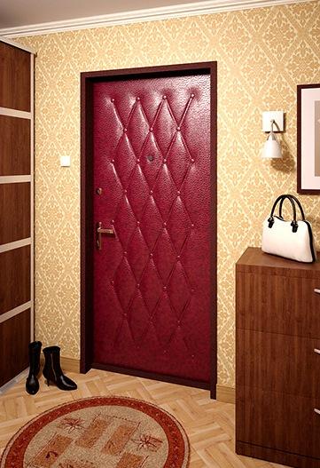 входные металлические двери в квартиру из винилискожи