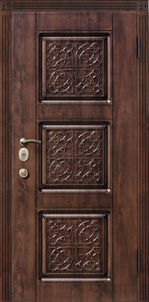 входная металлическая дверь элит с мдф и металлической накладкой