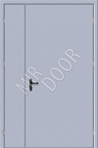 двери двухстворчатые металлические эконом класса