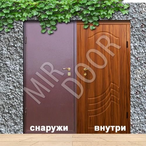 железные уличные двери и мдф