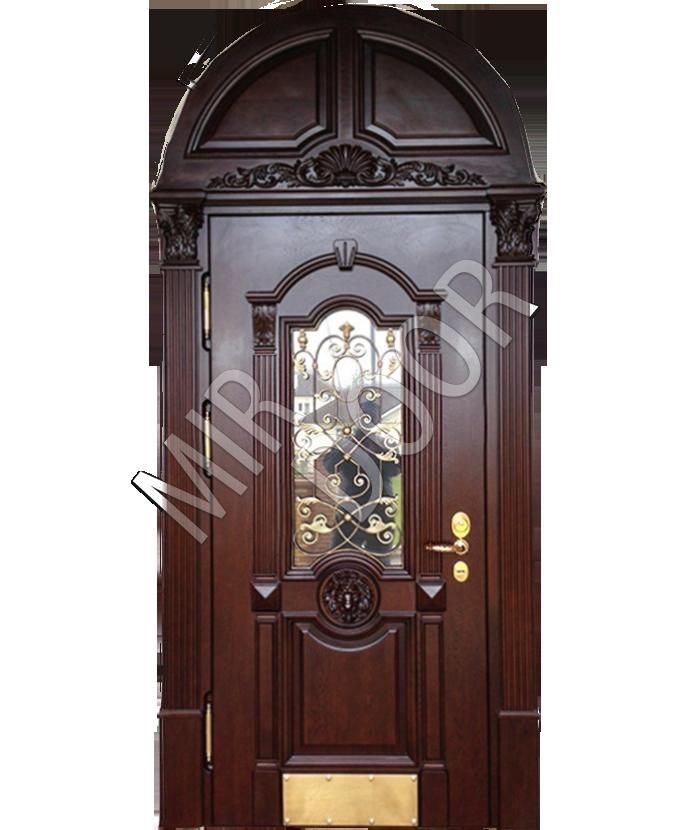 дверь арочная металлическая со стеклом купить
