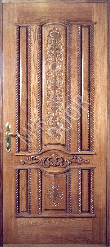 отделка металлической двери массивом деревом