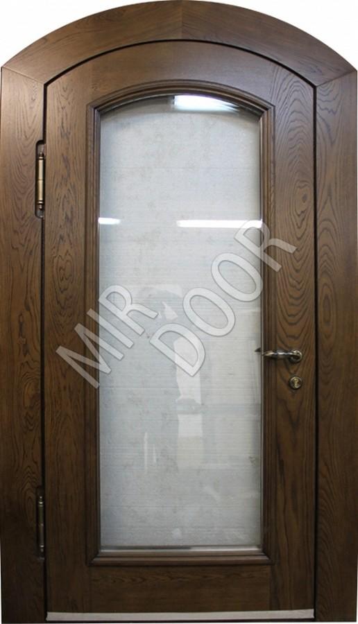 дверь металлическая остекленная для коттеджа