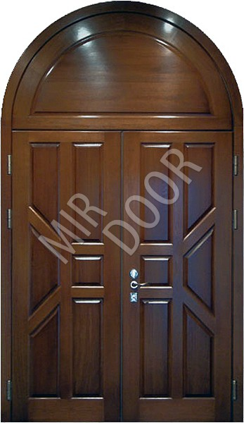 двери двустворчатые входные со шпоном дуба прайс